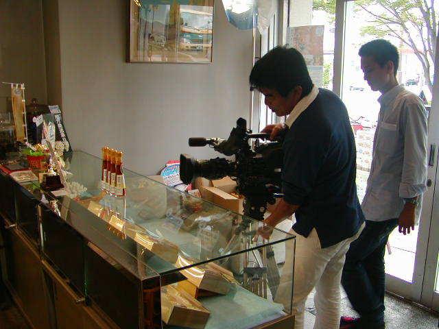 雲丹醤油テレビ取材