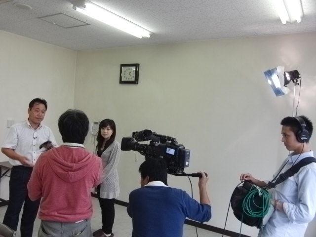 雲丹醤油テレビ取材2