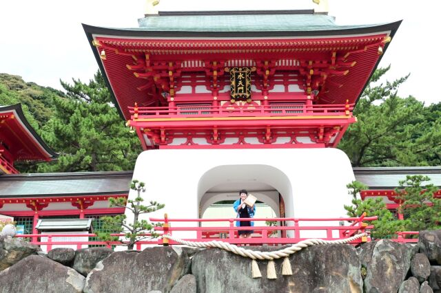下関赤間神宮とやまみ福箱金魚