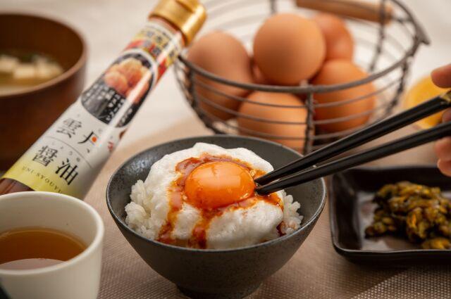 雲丹醤油メレンゲ卵かけごはん
