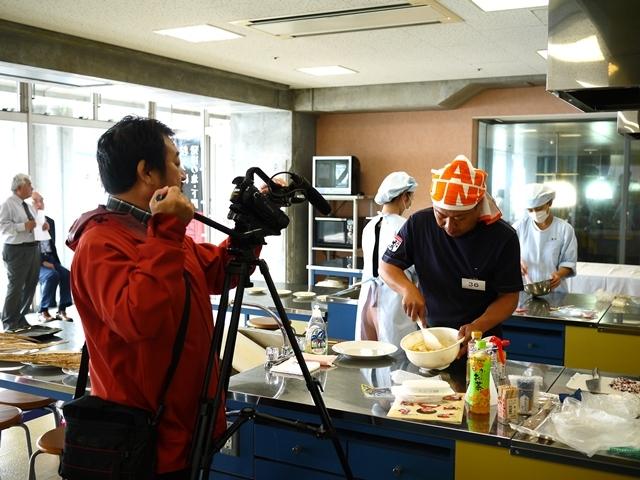 瓶詰めうにを使ったレシピコンテスト_NHKさんに取材されました
