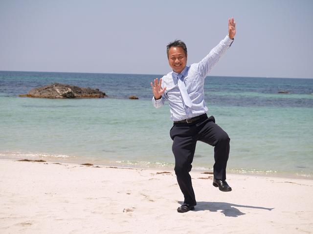 9角島海岸、友.JPG
